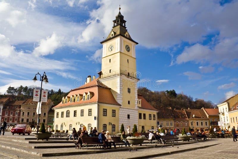 Brasov - het stadscentrum stock fotografie