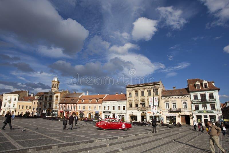 Brasov - het stadscentrum royalty-vrije stock afbeeldingen