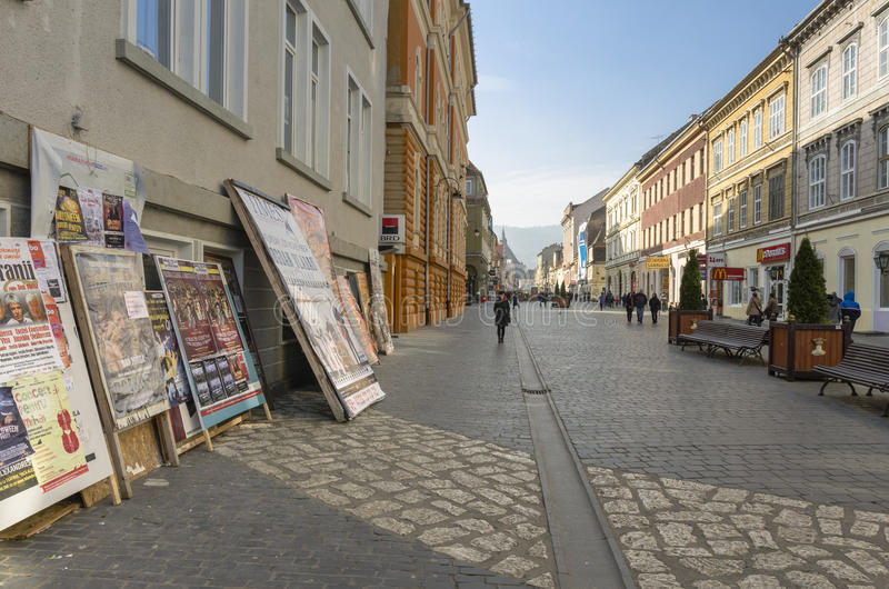 Brasov historical center, Romania royalty free stock photography