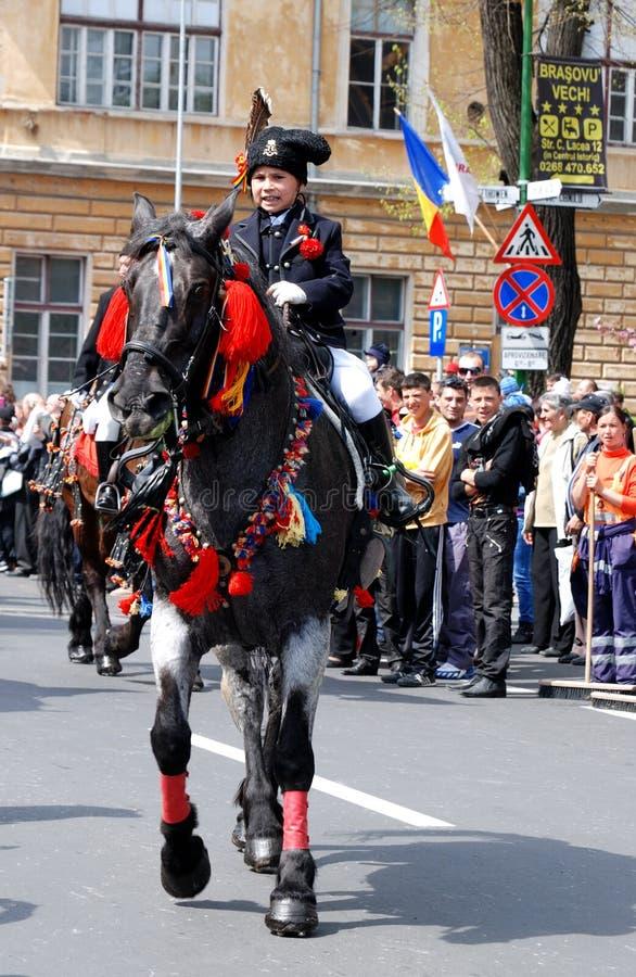 Brasov junho desfila, pode 2011 foto de stock