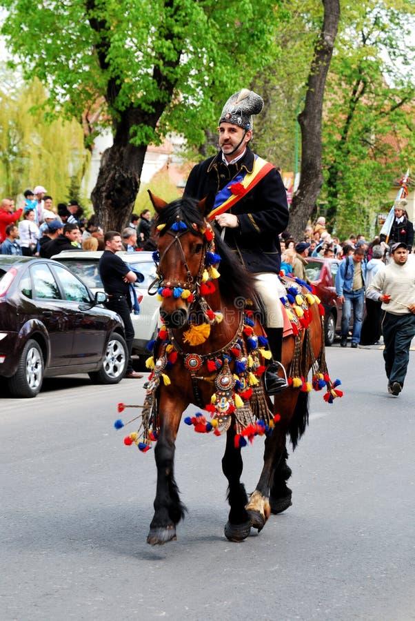Brasov junho desfila, pode 2011 fotografia de stock
