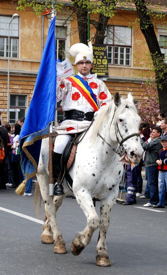 Brasov junho desfila, pode 2011, Romania fotos de stock