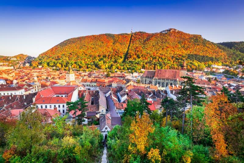 Brasov, la Transilvania - autunno in Romania fotografia stock