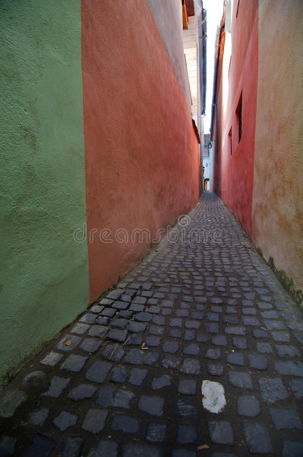 Brasov - Narrow Street stock photos