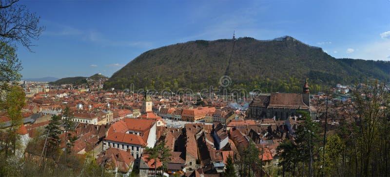 Brasov - panorama obrazy stock