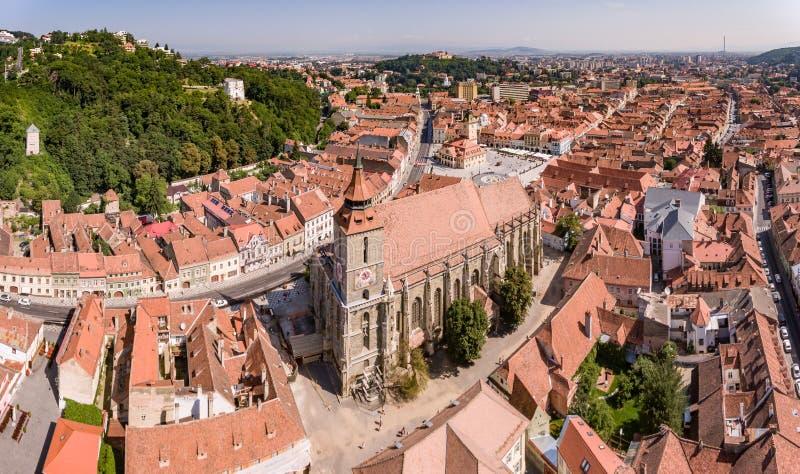 Brasov panorama royalty free stock images