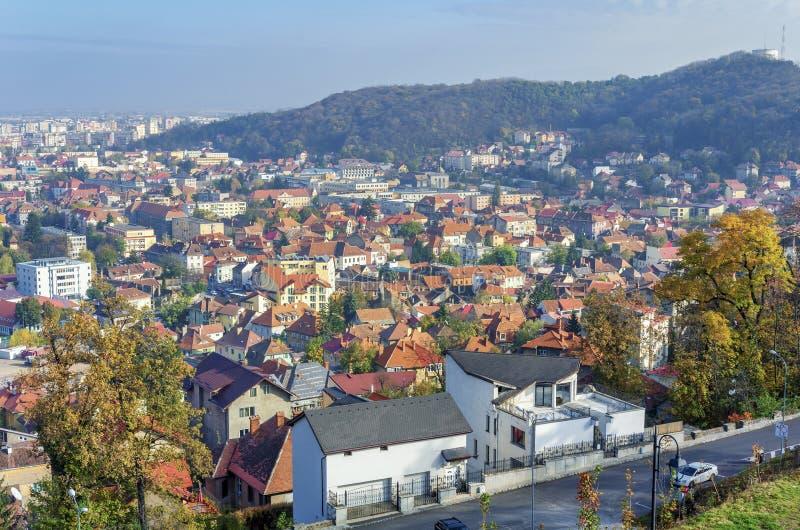 Brasov panoramautsikt royaltyfria foton