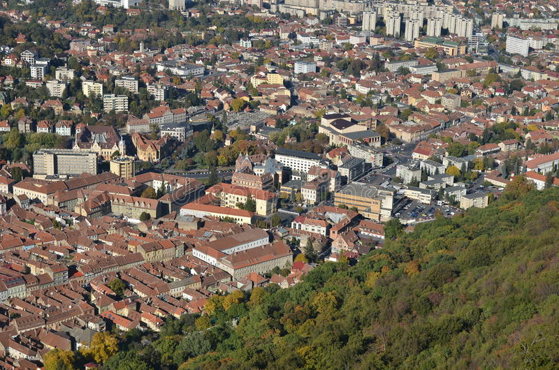 Brasov, Romania, aerial view stock photo