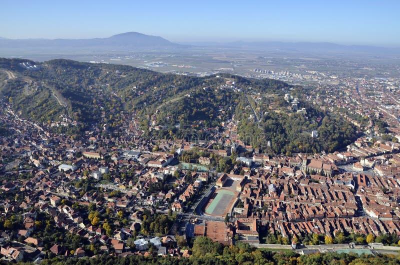 Brasov, Romania, aerial view stock photography