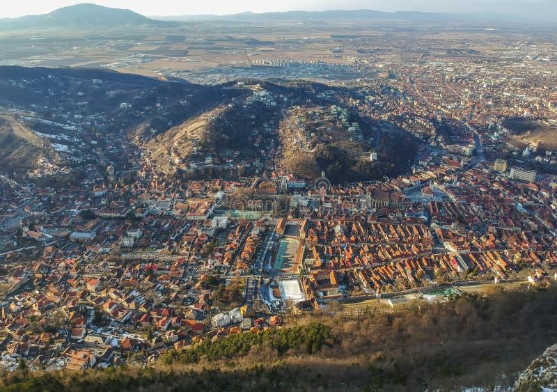 Brasov , Romania, aerial view royalty free stock photos