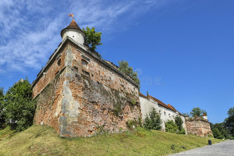 Brasov, Romania - July 20, 2019: Brasov Citadel, Romania. The citadel is part of Brasov`s outer fortification system royalty free stock photography