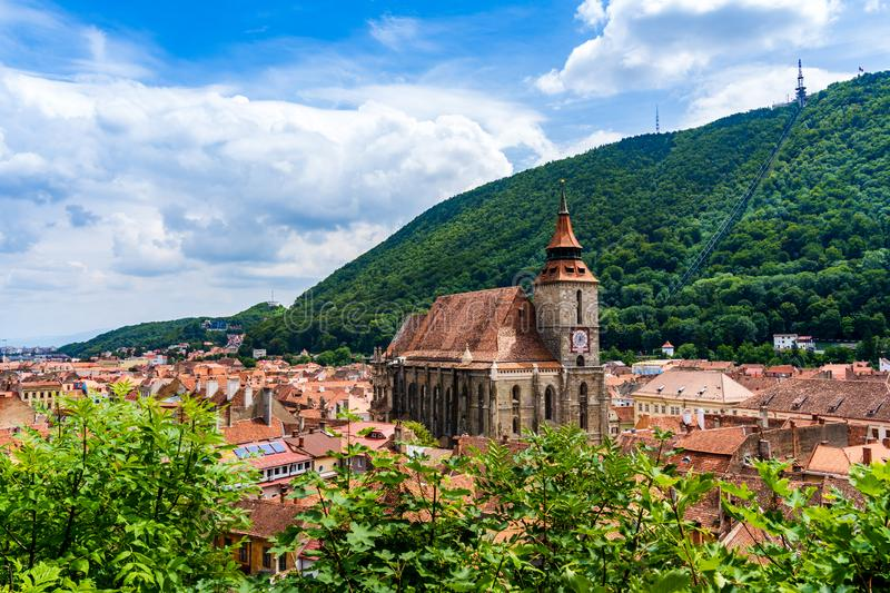 Black Church in Brasov, Transylvania, Romania stock photos