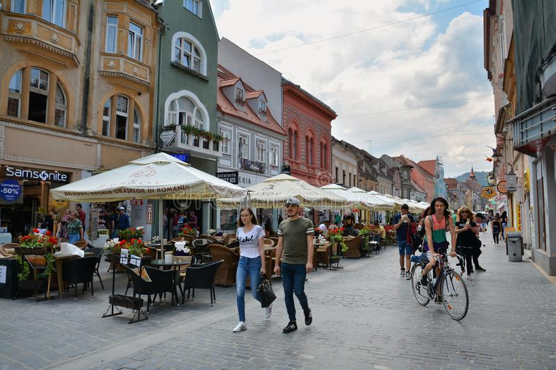 Old Town of Brasov, ,Romania stock images