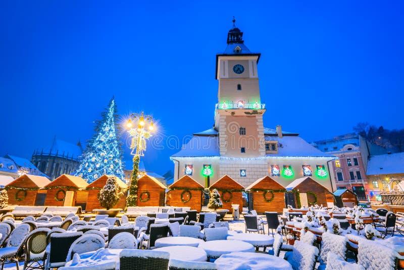 Brasov, Roumanie, marché de Noël en Transylvanie, l'Europe photos libres de droits