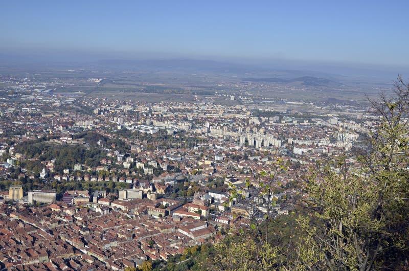 Download Brasov Rumänien, Flyg- Sikt Fotografering för Bildbyråer - Bild av katolik, kultur: 27280745