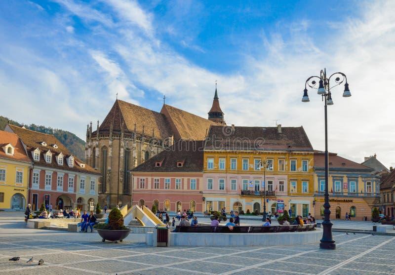 Brasov, Rumunia, śródmieście zdjęcia stock