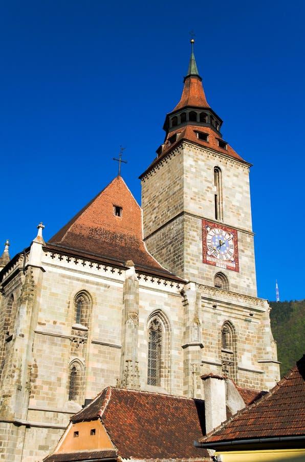 Brasov - schwarze Kirche stockbild