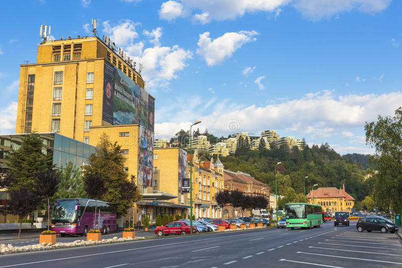 Brasov stad, Rumänien arkivbild
