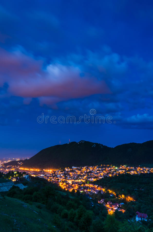 Brasov and Tampa mountain, Romania stock photos