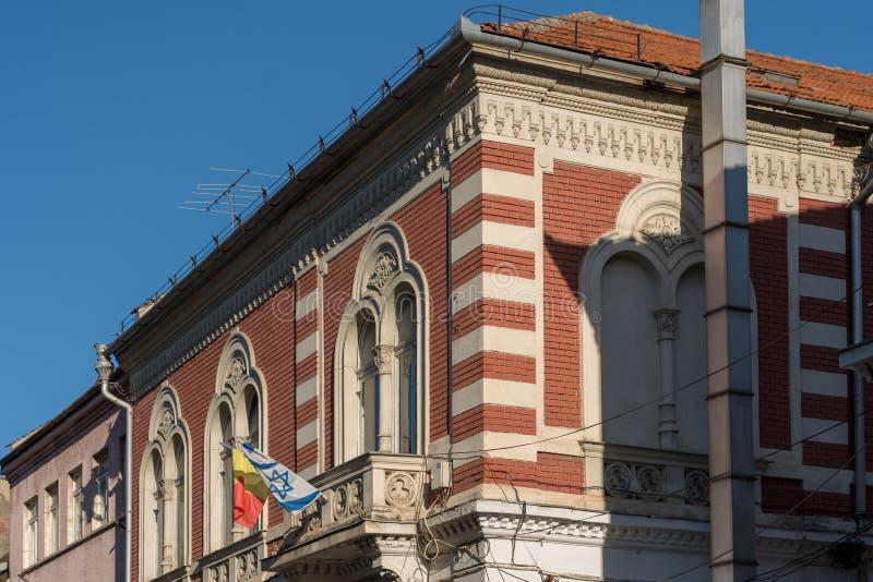 BRASOV TRANSYLVANIA/ROMANIA - SEPTEMBER 20: Sikt av byggnader royaltyfri foto