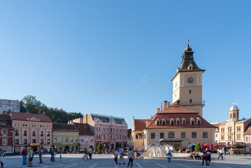 BRASOV, TRANSYLVANIA/ROMANIA - 20 SEPTEMBRE : Vue de la ville s images stock