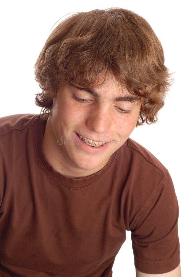 brasować nastoletniego chłopca zdjęcia stock