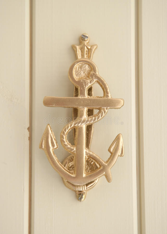 Download Brass anchor door knocker stock photo. Image of decor - 49833934 & Brass anchor door knocker stock photo. Image of decor - 49833934