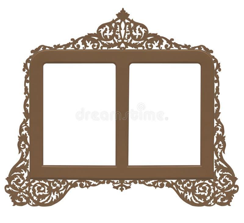 brass antyczny ramy wieloletnie royalty ilustracja