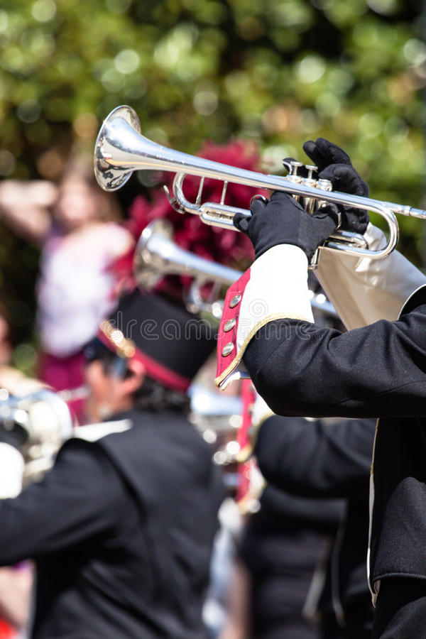 Download Brass band parade stock image. Image of party, gold, music - 40038331