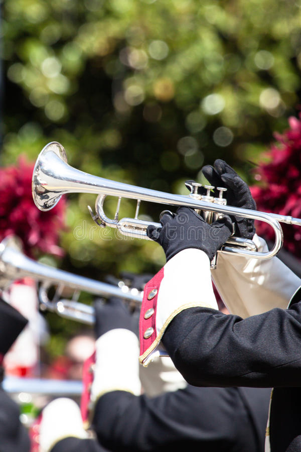 Download Brass band parade stock image. Image of melody, celebration - 40038567