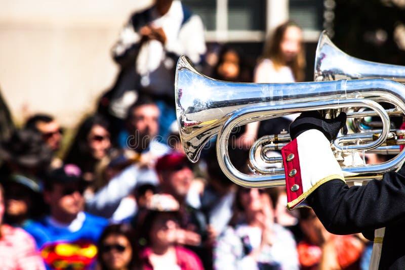 Brass Band Parade Stock Photo
