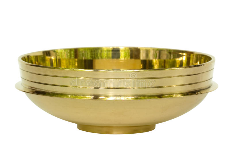 Brass Bowl from India Isolated stock images