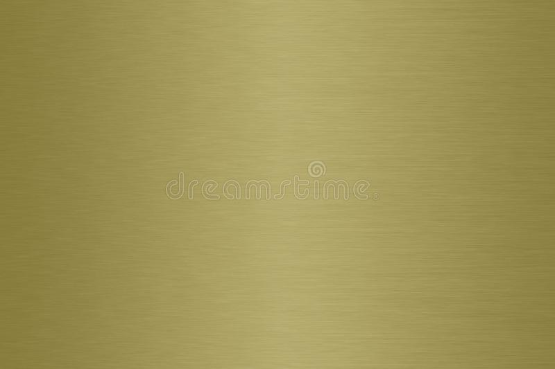 Brass brushed satin metal gradient background. Satin metallic shaded texture royalty free illustration