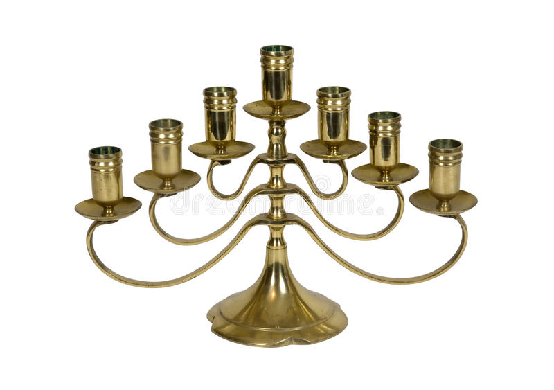 Download Brass candelabra stock photo. Image of efficient, lighting - 11859796