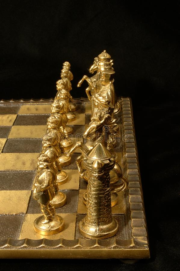 Download Brass chess pieces stock photo. Image of gold, outstanding - 48822