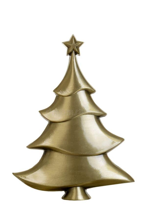 Brass christmas tree royalty free stock photography