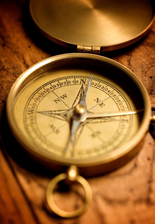 Download Brass compass stock image. Image of west, north, pointing - 11386345