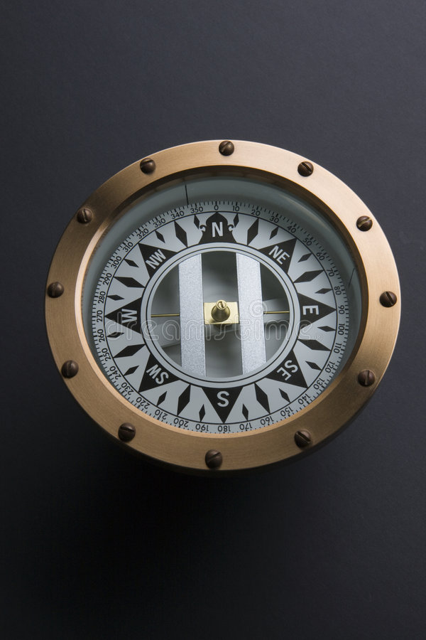 Download Brass Compass stock image. Image of west, instrument, measurement - 7770091