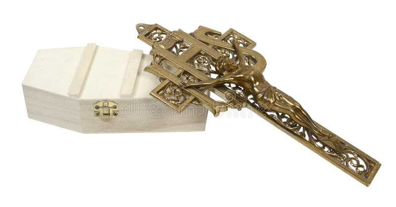 Download Brass Crucifix And Coffin Royalty Free Stock Photography - Image: 25797077