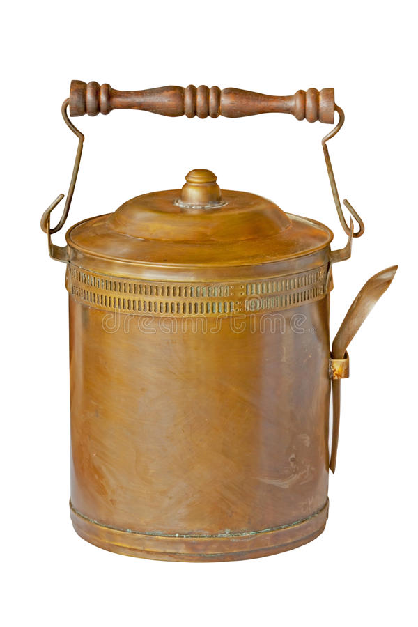 Brass food container with spoon