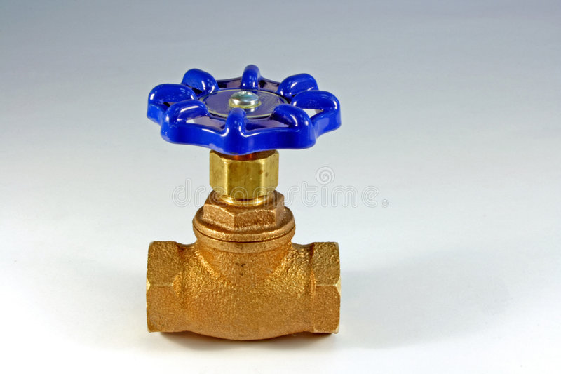 Brass gate valve royalty free stock photos