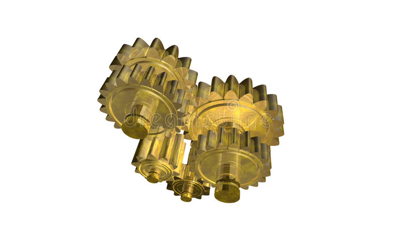 Brass Gear Royalty Free Stock Photos