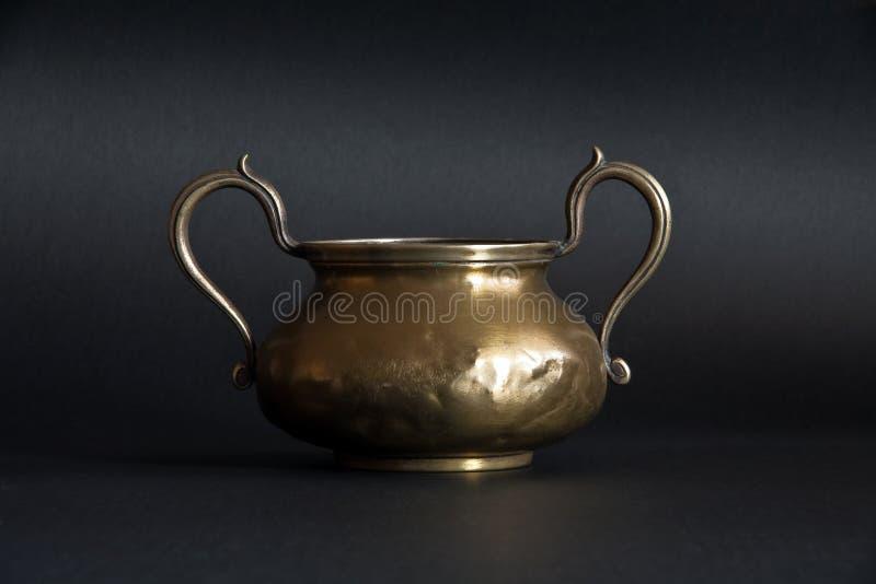 Download Brass goblet stock image. Image of black, retro, equipment - 17279753