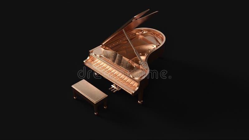 Brass Grand Piano royalty free illustration