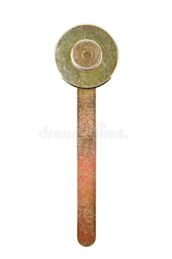 A brass Hand Roller Rolling. A brass Hand Roller Rolling for Installation mosquito net wire screen to window screen`s frame isolated on white background royalty free stock photos