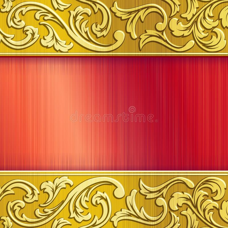 Download Brass Horizontal Banner In Red With Transparencies Stock Images - Image: 18858764
