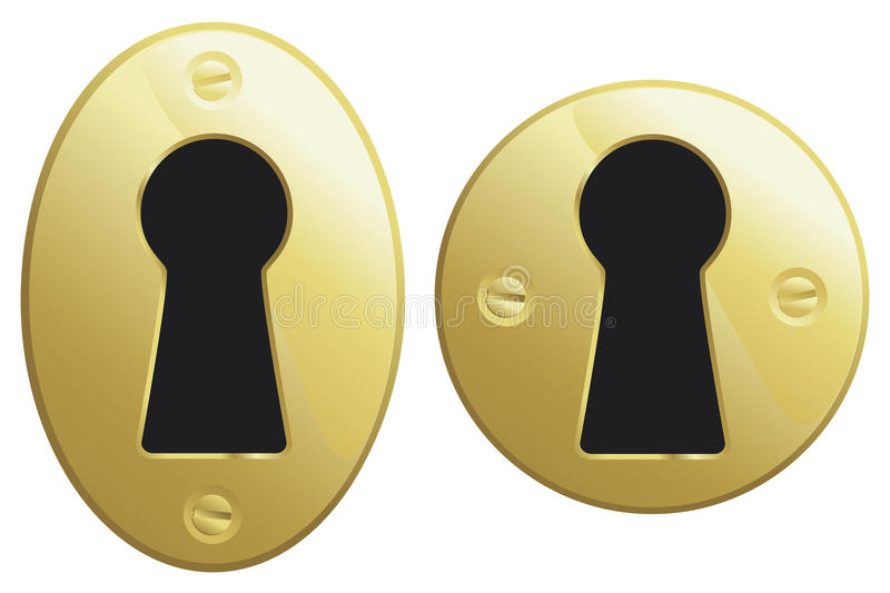 Download Brass keyhole stock vector. Image of safe, oval, secrecy - 26492106