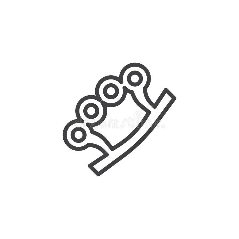 Brass knuckles stock illustration