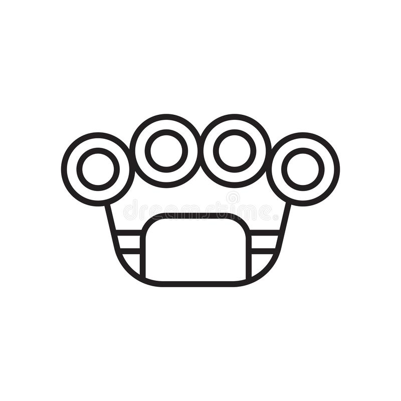 Brass knuckles icon vector sign and symbol isolated on white background, Brass knuckles logo concept royalty free illustration