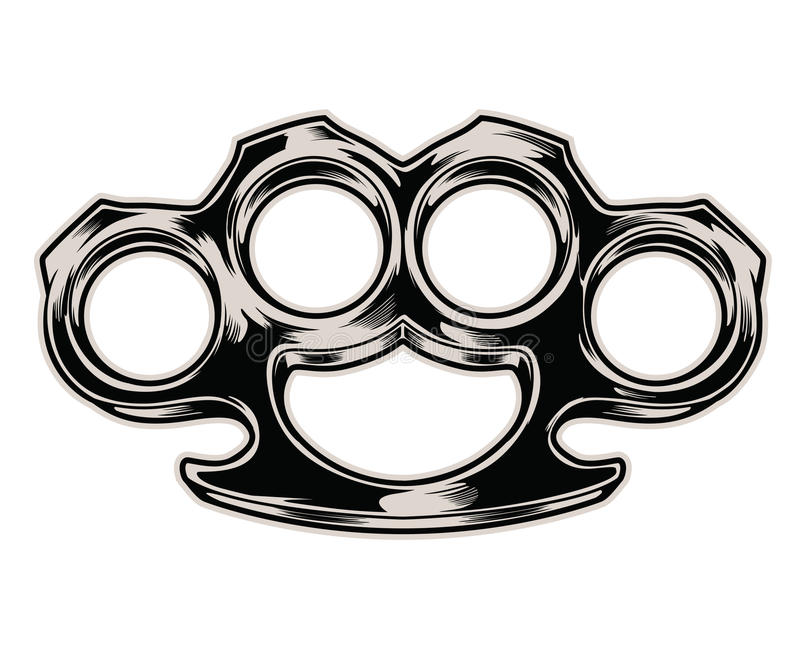 Brass knuckles. Isolated vector illustration vector illustration